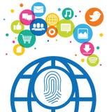 Medios del social de la identificación de la comunicación global libre illustration