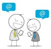 Medios del social del hombre de negocios Imagen de archivo libre de regalías