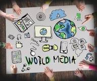 Medios del Wold, concepto de información foto de archivo libre de regalías