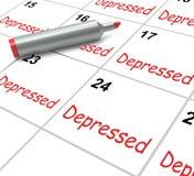 Medios deprimidos del calendario desalientadores Fotos de archivo