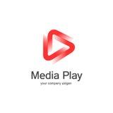 medios diseño del logotipo del juego 3D ilustración del vector