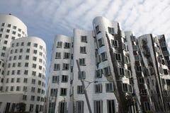 Medios edificios Düsseldorf, Alemania del puerto fotos de archivo libres de regalías