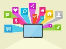 Medios ejemplo social del icono del vector Fotografía de archivo libre de regalías
