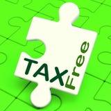 Medios exentos de impuestos del rompecabezas libres de impuestos o deber excluido Foto de archivo