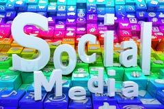 Medios fondo social stock de ilustración