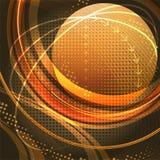 Medios globo en oro Foto de archivo libre de regalías