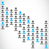 Medios grupo de redes social Foto de archivo libre de regalías