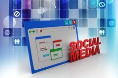 Medios Home Page social libre illustration
