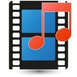 Medios icono Foto de archivo