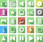 Medios icono Imagen de archivo libre de regalías