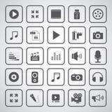 Medios icono del entretenimiento Imagenes de archivo