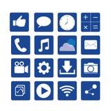 Medios icono social Imagenes de archivo