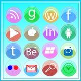 Medios icono social Imagen de archivo libre de regalías
