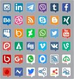Medios icono social ilustración del vector