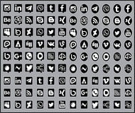Medios icono social libre illustration