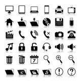 Medios iconos Imágenes de archivo libres de regalías