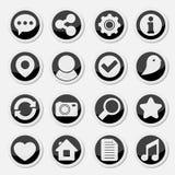 Medios iconos redondos sociales Imagen de archivo libre de regalías
