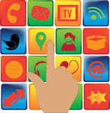 Medios iconos sociales stock de ilustración