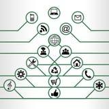 Medios iconos sociales Imagen de archivo libre de regalías