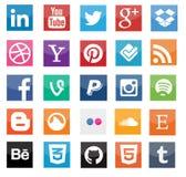 Medios iconos sociales Foto de archivo libre de regalías