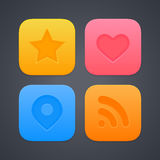 Medios iconos sociales Imagen de archivo