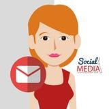 Medios iconos sociales Imágenes de archivo libres de regalías