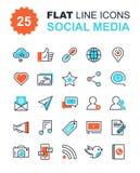 Medios iconos sociales Fotografía de archivo