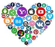 Medios iconos sociales Foto de archivo
