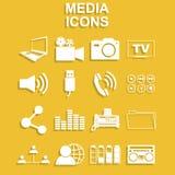 Medios iconos sociales Fotos de archivo libres de regalías