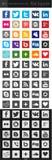 Medios iconos sociales - cuadrado imagen de archivo libre de regalías