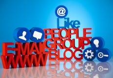 Medios iconos sociales de la red Imagen de archivo libre de regalías