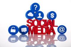 Medios iconos sociales de la red Fotografía de archivo libre de regalías