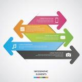 Medios Infographic social Fotografía de archivo