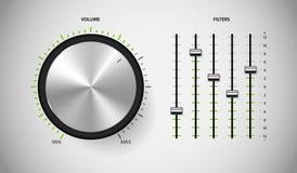 Medios interfaz de usuario del control de DJ. Fotografía de archivo libre de regalías