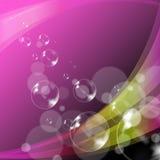 Medios Joy Or que brilla tenuemente del fondo de las burbujas Imagen de archivo libre de regalías