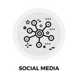 Medios línea social icono ilustración del vector