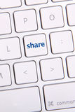Medios llave social Fotografía de archivo libre de regalías