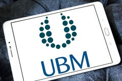 Medios logotipo de la compañía de UBM Fotografía de archivo
