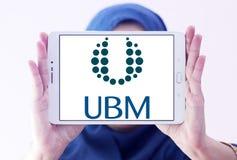 Medios logotipo de la compañía de UBM Imagenes de archivo