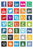 Medios logotipos sociales de la red Fotografía de archivo libre de regalías