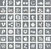 Medios logotipos sociales de los apps del establecimiento de una red ilustración del vector