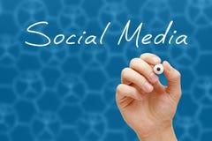 Medios marcador social del blanco del concepto fotos de archivo