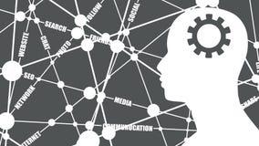 Medios nube relativa social de las palabras ilustración del vector