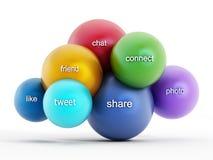 Medios nube social que computa Imagen de archivo libre de regalías