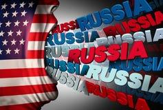 Medios obsesión americana de Rusia stock de ilustración