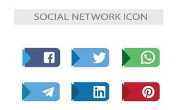 Medios paquete social de los iconos: marca social superior de la red ilustración del vector