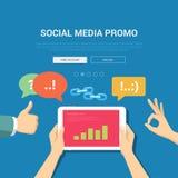 Medios plantilla social de la bandera del promo ilustración del vector