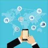 Medios redes y negocio sociales de la comunicación Imagen de archivo libre de regalías