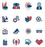 Medios sistema del icono del vector Fotos de archivo libres de regalías