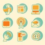 Medios sistema social del icono Fotografía de archivo